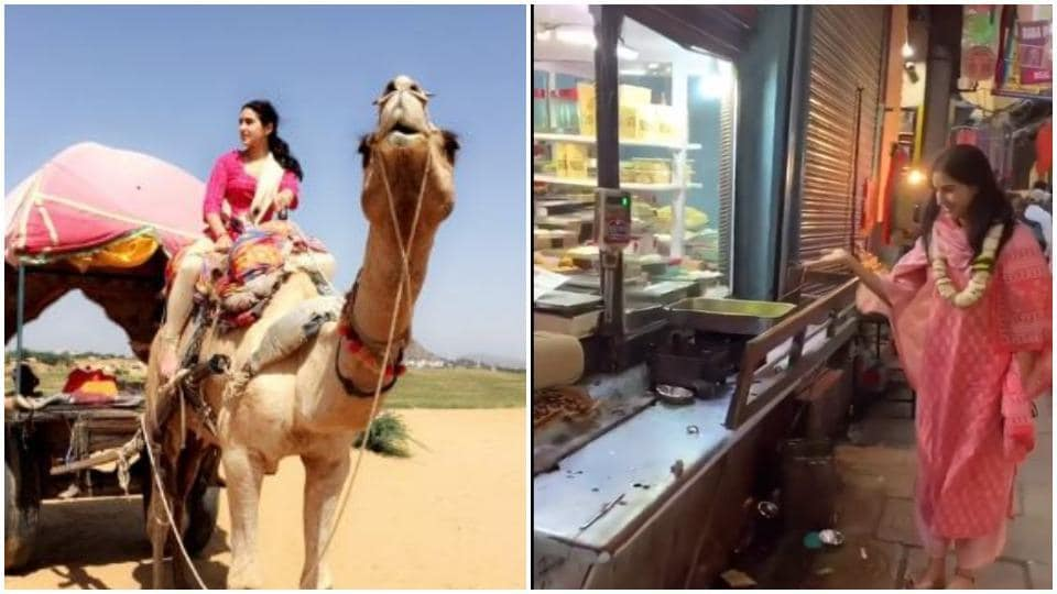 Sara Ali Khan takes fans on a tour of India in new video. Watch her 'Bharat state of mind ' – bollywood