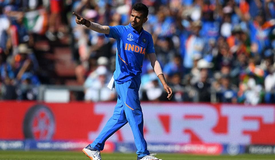 Yuzvendra Chahal in action for India