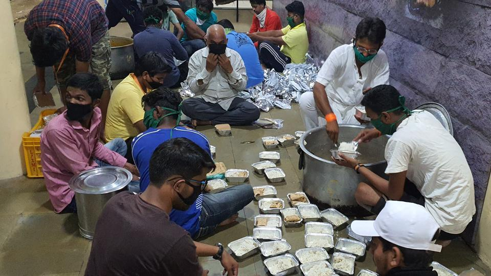 The youths are engaged in managing, preparing and distributing meals twice a day to the needy families.