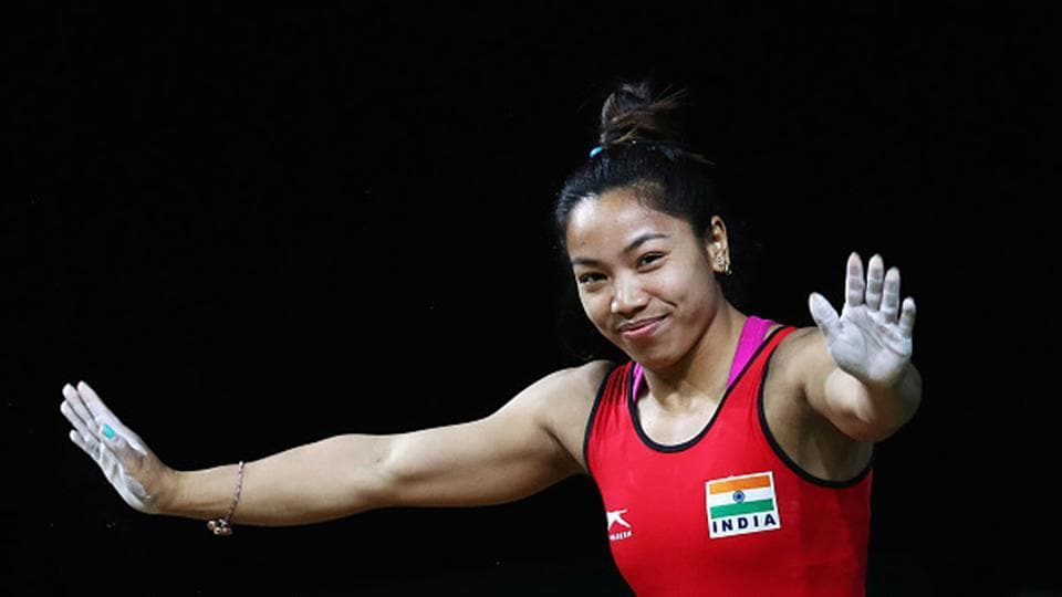 Mirabai Chanu during the 2018 Commonwealth Games