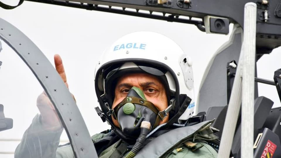 The Chief of Air Staff Air Marshal RKSBhadauria was in Sulur ,Tamil Nadu, to operationalise the IAF's 18 Squadron, which is codenamed as 'Flying Bullets'.