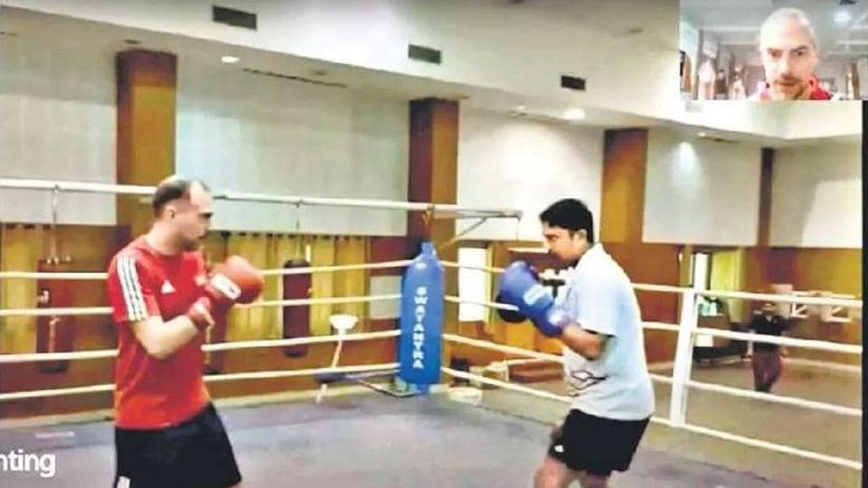 India's Swedish boxing expert Santiago Nieva's (left) online classes are a hit with local coaches who pass on the knowledge to their trainees at the grassroots.