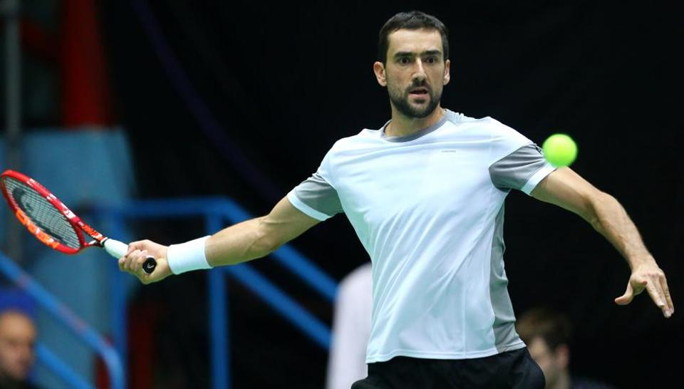 Croatia's Marin Cilic in action