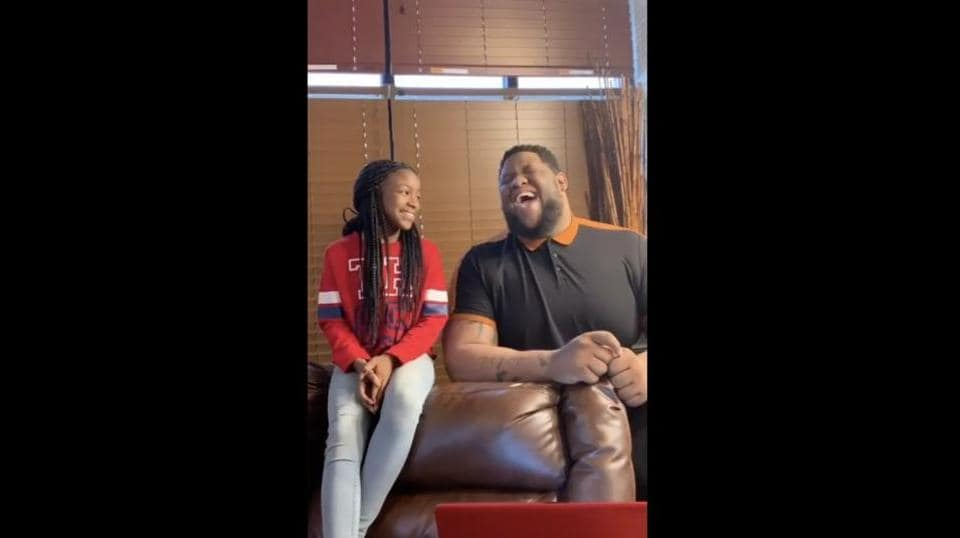 uncle and niece perform Marvin Gaye and Tammi Terrell's 'Ain't No Mountain High Enough'.