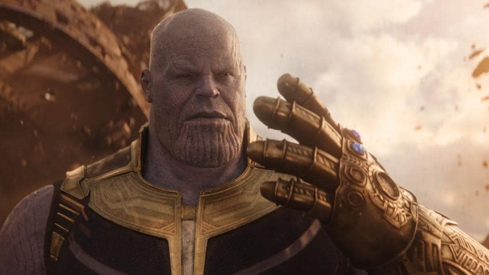 Thanos, as played by Josh Brolin in the Avengers films.