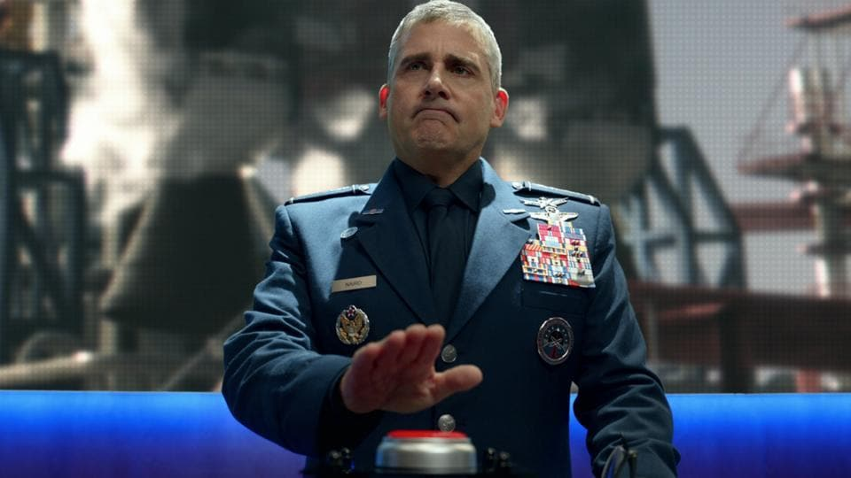 Space Force review: Steve Carell in a still from the new Netflix show.