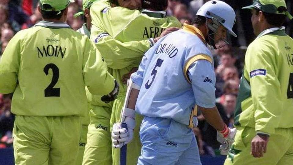 Rahul Dravid against Pakistan in 1999 World Cup