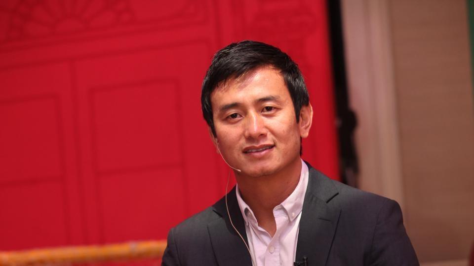 Indian footballer Baichung Bhutia.