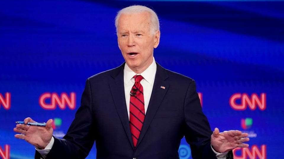 Democratic US presidential candidate and former Vice President Joe Biden.