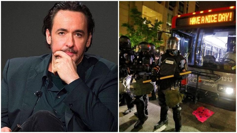 John Cusack has vowed to go back into the protests again.