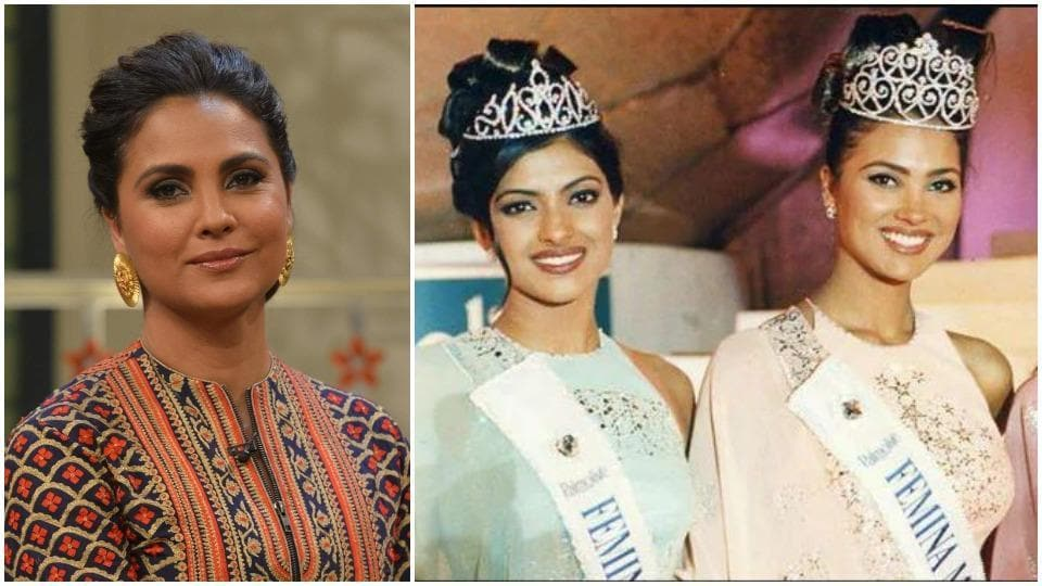 Lara Dutta and Priyanka Chopra stood first and second, respectively, at the 2000 Miss India pageant.