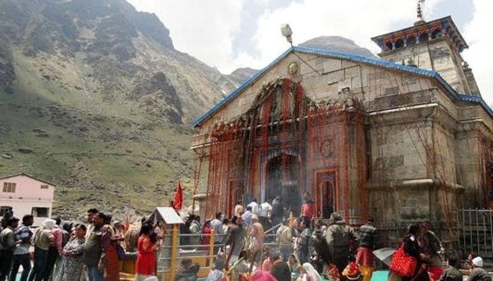 The Kedarnath shrine in Uttarakahnd is one of the  four pilgrimage sites of Char Dham Yatra.