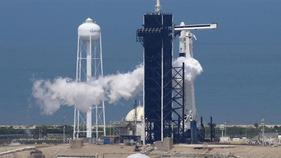 The first crewed flight from US soil since the space shuttle program ended in 2011 had originally been scheduled for Wednesday but was delayed because of weather conditions,