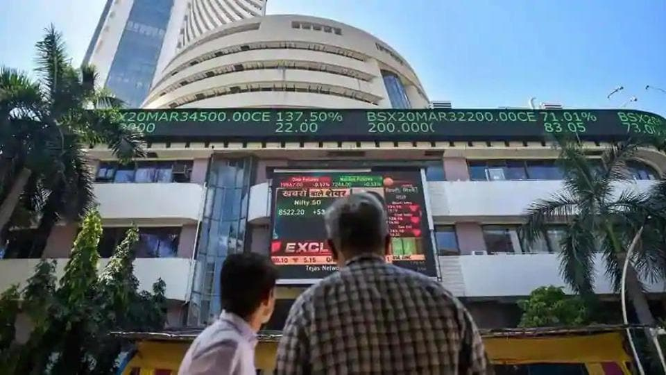 Domestic equity markets ended higher for the fourth straight session on Monday as the Sensex jumped over 870 points led by gains in financial, metal and auto stocks.