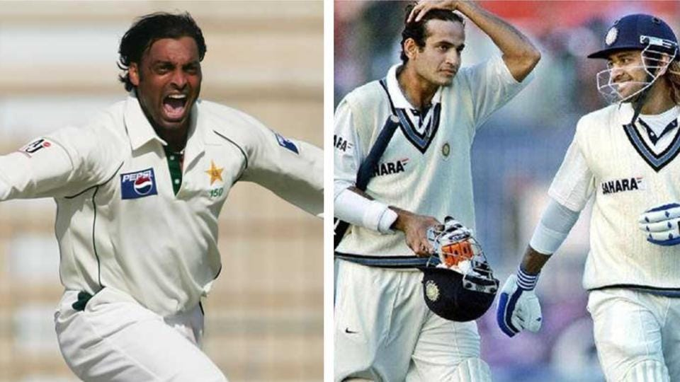Shoaib Akhtar and Irfan Pathan with MSDhoni.