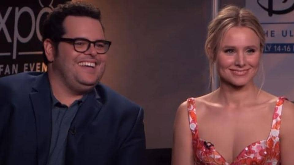 Josh Gad and Kristen Bell previously worked together in Disney's Frozen films.