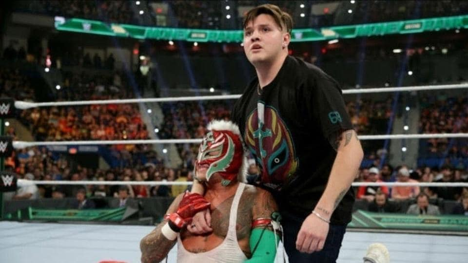 Rey Mysterio with his son Dominick