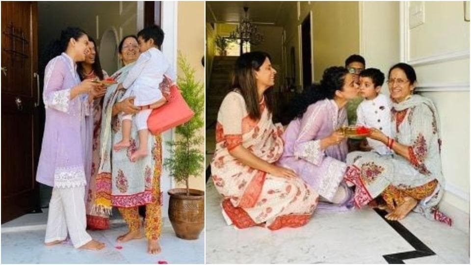 Kangana Ranaut welcomes nephew Prithvi to Rangoli's new home: 'Maasi is expert in making every occasion a celebration'