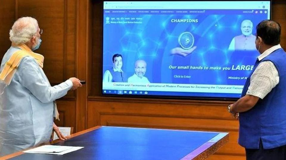 Prime Minister Narendra Modi on Monday launched the technology platform CHAMPIONS, a one-stop-shop solution of the MSME Ministry for small businesses.