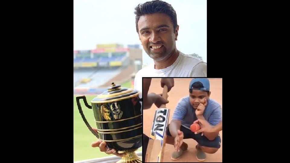 R Ashwin posted a hilarious clip of some people playing gully cricket.
