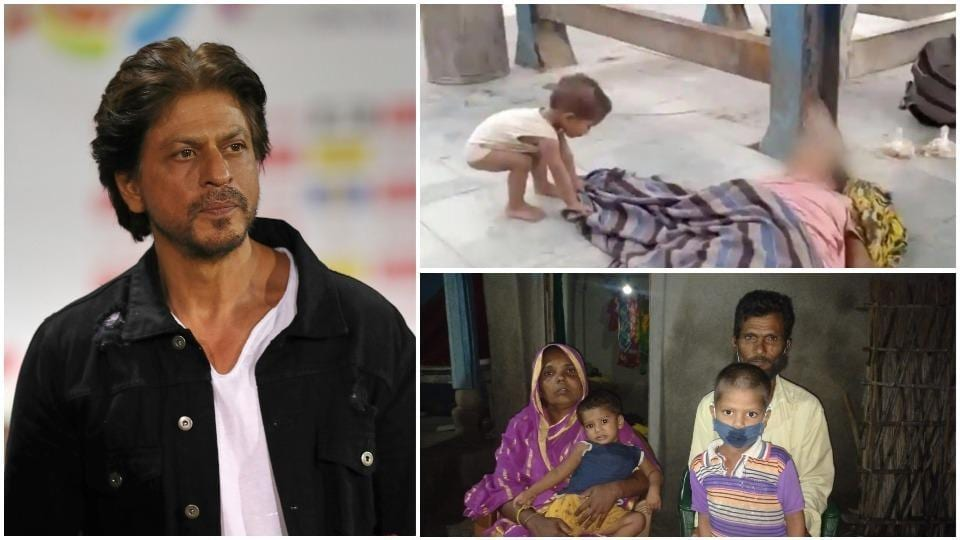 Shah Rukh Khan is touched by the child who tried to wake up his dead mother on a train station.