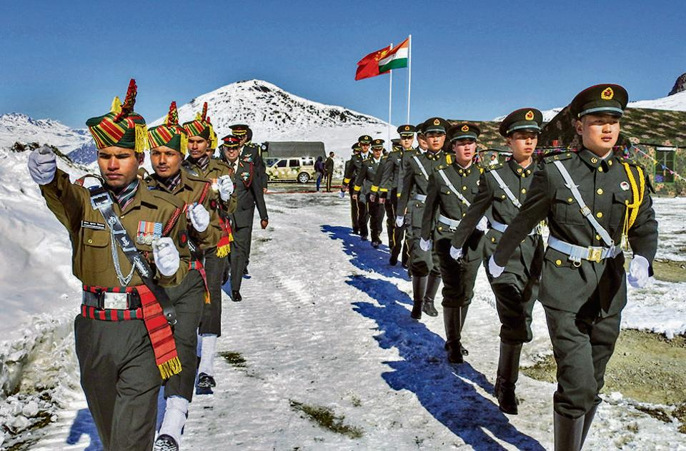 Indian and Chinese soldiers jointly celebrate the 2019 new year, Arunachal Pradesh