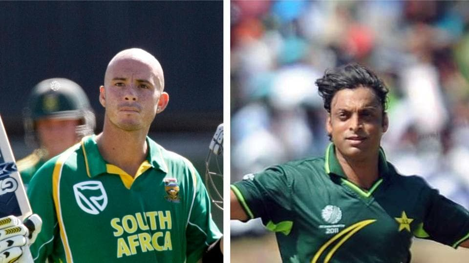 File image of Herschelle Gibbs and Shoaib Akhtar.