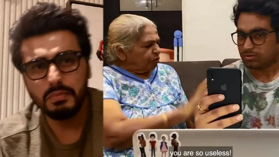 Arjun Kapoor and his friend's video call was crashed by the latter's grandmother.