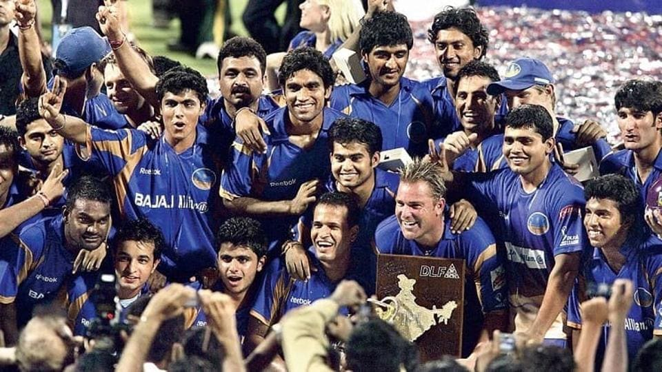 File image of Rajasthan Royal with IPLTrophy.