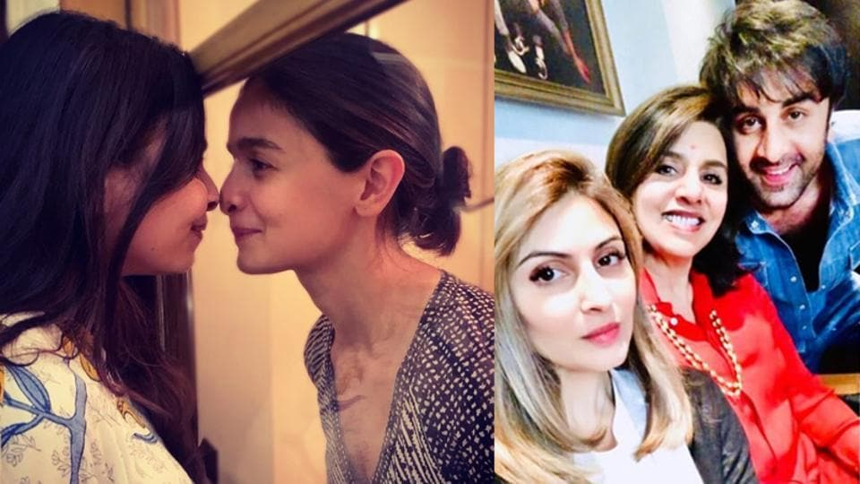 Riddhima Kapoor Sahni has reacted to Alia Bhatt's picture with sister Shaheen Bhatt.