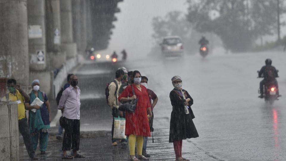Mumbai experienced heavy rain on Tuesday, a day before Cyclone Nisarga makes landfall.
