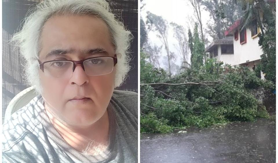 Hansal Mehta shared the aftermath of Cyclone Nisarga in his area.