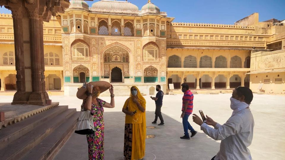 The reopening of tourist spots in Rajasthan has led to a slow but steady return of visitors.