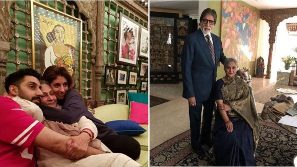 Amitabh Bachchan and his family love clicking pictures at their home.
