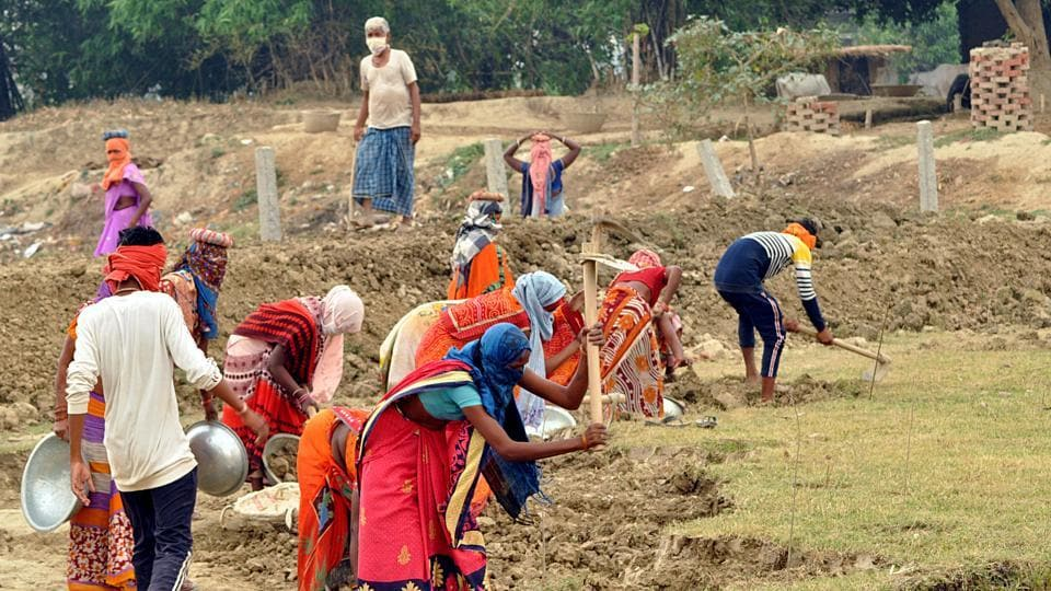 Mahatma Gandhi National Rural Employment Guarantee Act (MGNREGA), labour law and a social security measure, facilitates 'right to work' for citizens, through various Panchayat level schemes.