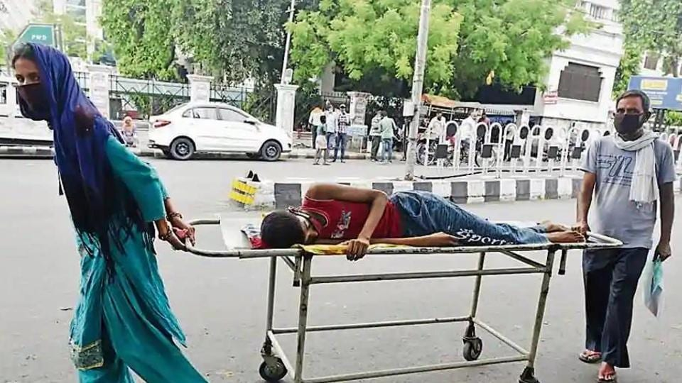 Parents of a non-Covid patient from Maharajganj ran from pillar to post in Lucknow for getting their son admitted to hospital as government hospitals mostly focused on Covid patients and most private hospitals closed shop due to strict guidelines.