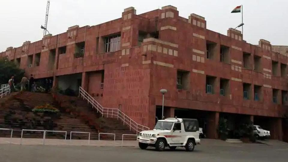 The JNU Teachers' Association (JNUTA), however, said they did not flout any rule and followed social-distancing norms. (HTfile photo)