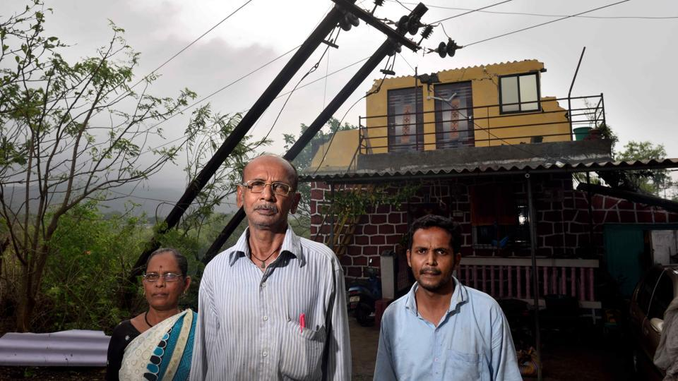 The Gharat family, who live in Navedar Beli village near Murud, lost a floor of their creek-facing house and the restoration is likely to cost them ₹4 lakh.
