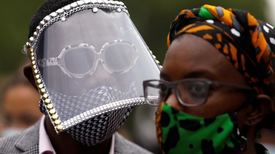 People wear protective face masks as they attend a public memorial after the death in Minneapolis police custody of George Floyd in the Brooklyn borough of New York City, New York. (Representational)