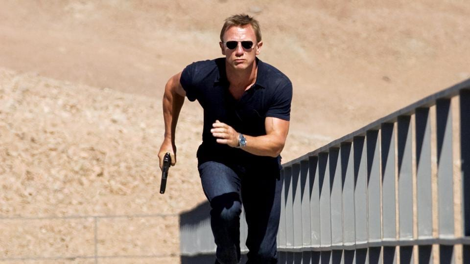 Daniel Craig in a still from Quantum of Solace.