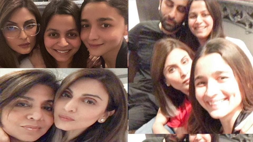Riddhima Kapoor Sahni has shared several pictures from her family get-together which had Ranbir Kapoor-Alia Bhatt in attendance.