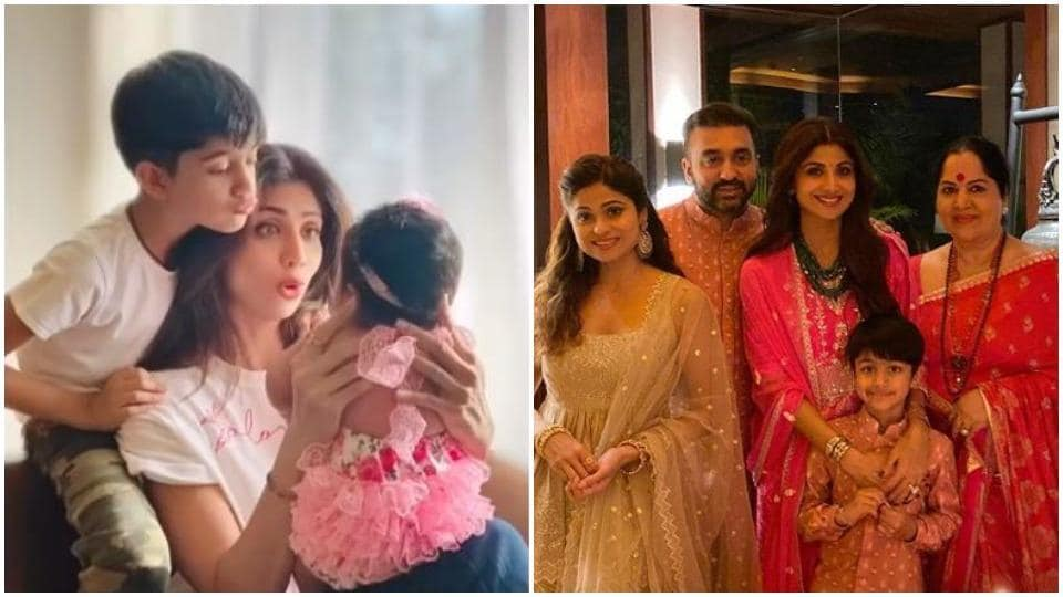 Shilpa Shetty spends the happiest time with her family.