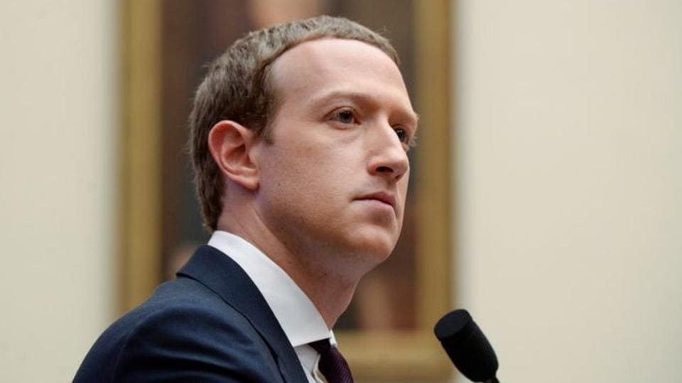 Facebook Chairman and CEO Mark Zuckerberg testifies at a House Financial Services Committee hearing in Washington, US.