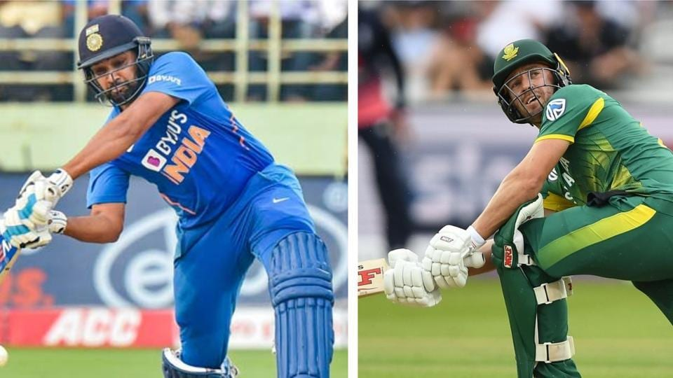File image of Rohit Sharma and AB de Villiers.
