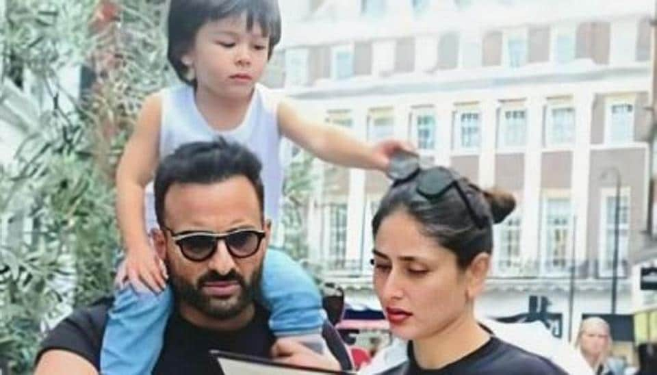 Kareena Kapoor, Saif Ali Khan were seen out in Mumbai with son Taimur.