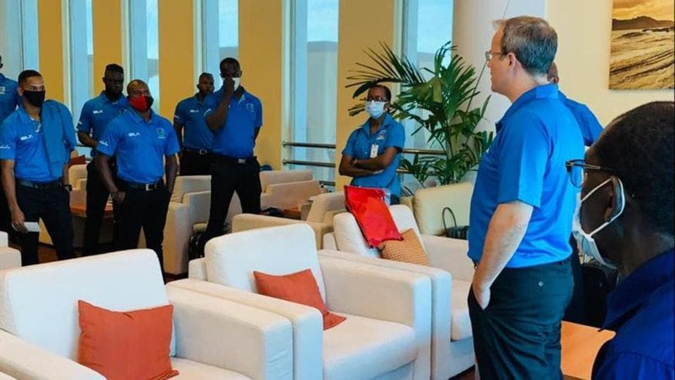 West Indies cricketers and support staff