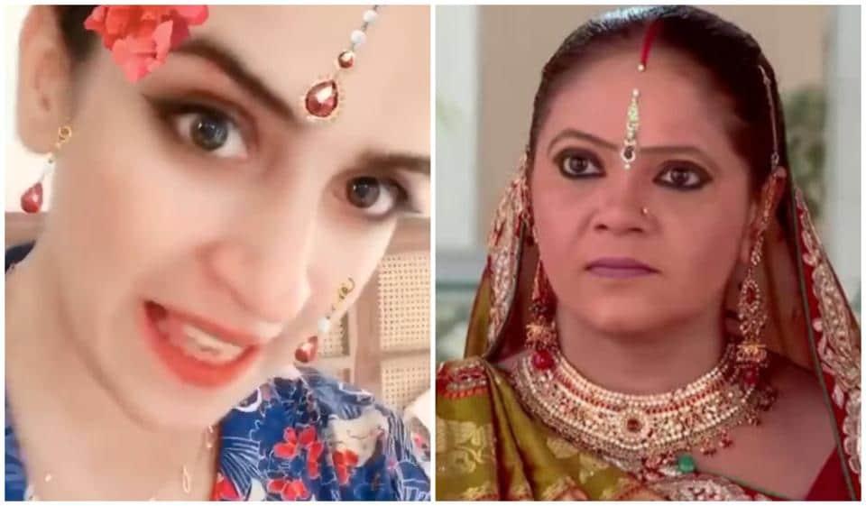 Sanya Malhotra shared a funny video of herself enacting a scene from Saath Nibhana Saathiya.