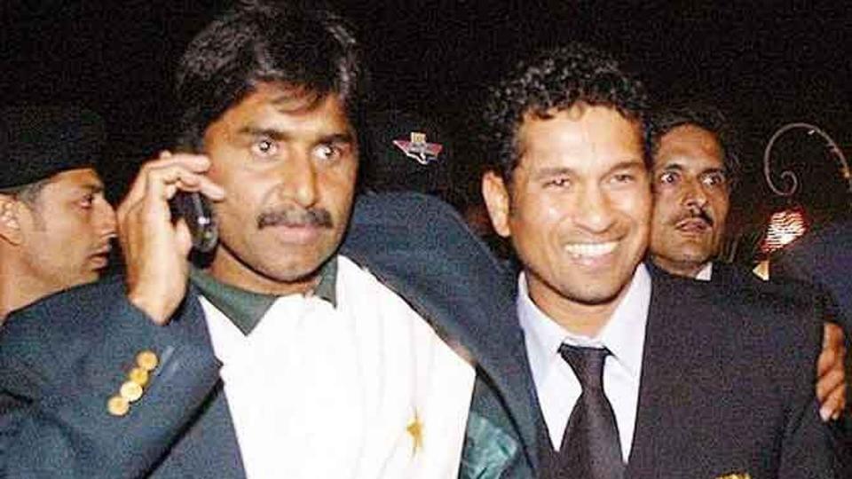 Javed Miandad and Sachin Tendulkar