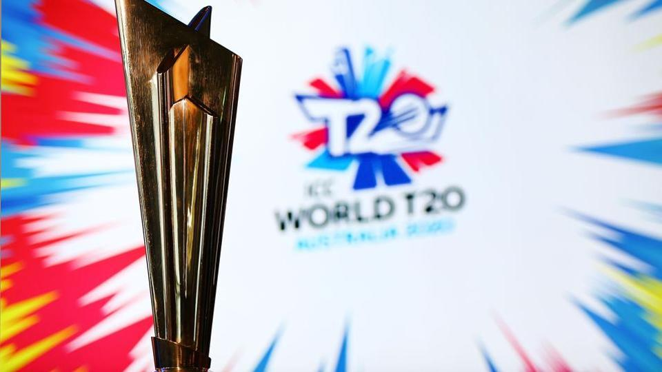 The ICC T20 World Cup Trophy is seen during the ICC World T20 media opportunity at on January 30.