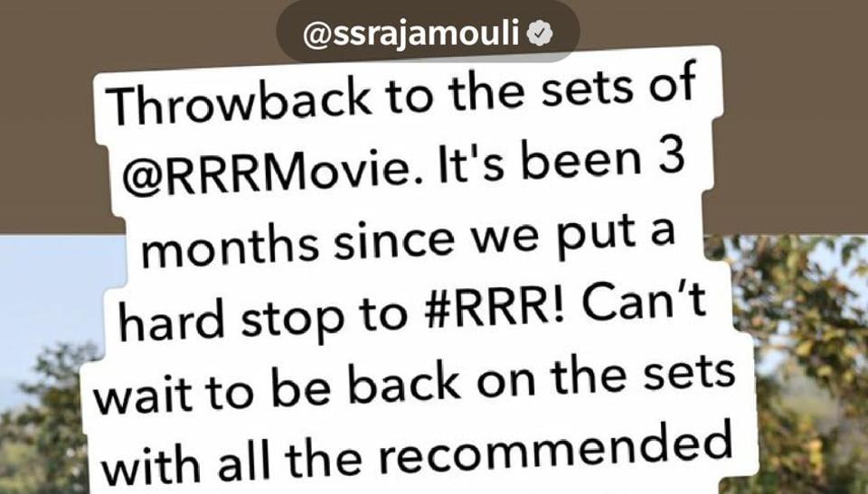 RRR is SSRajamouli's next big film after Baahubali series.